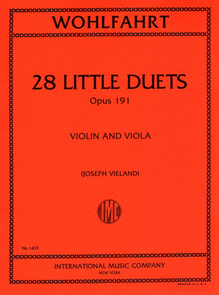 Hans Sitt: 28 Little Duets op. 191