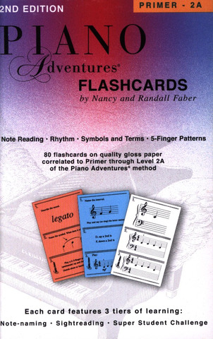 Randall Faber et al.: Piano Adventures – Flashcards In-a-Box