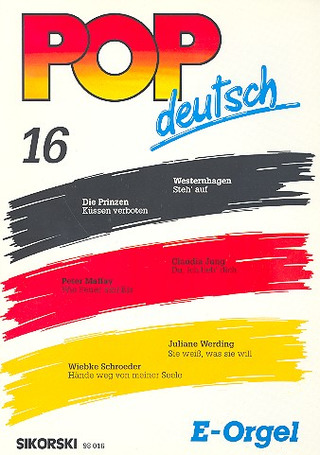 Pop deutsch E-Orgel 16