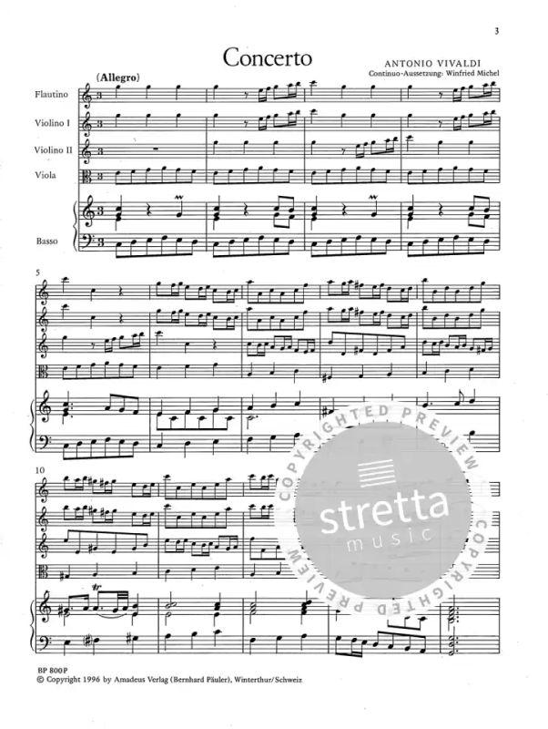 Antonio piano reduction with solo p Concerto C major op 44//11 RV 443 Vivaldi