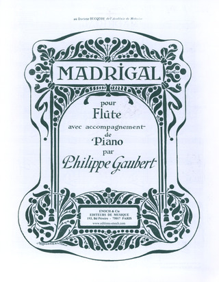 Philippe Gaubert: Madrigal