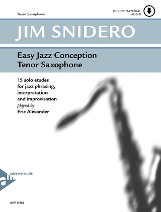 Jim Snidero: Easy Jazz Conception – Tenor Saxophone