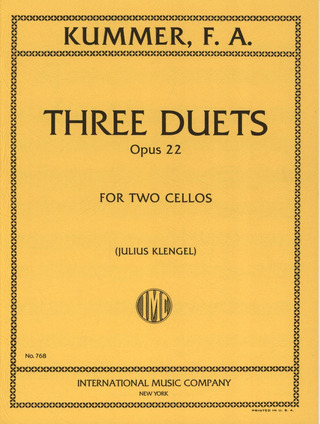 Friedrich August Kummer: Three Duets op. 22