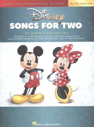 Disney Songs for Two Alto Saxophones