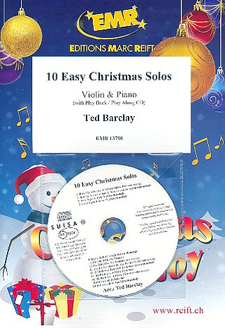 Barclay, Ted: 10 Easy Christmas Solos + CD