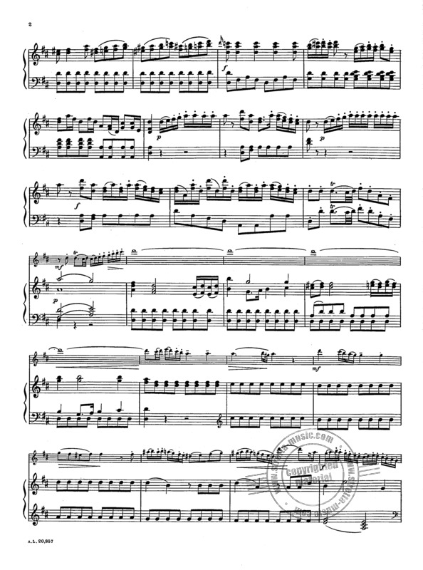Wolfgang Amadeus Mozart: Concerto in D for Flute and Piano  KV 314 (2)
