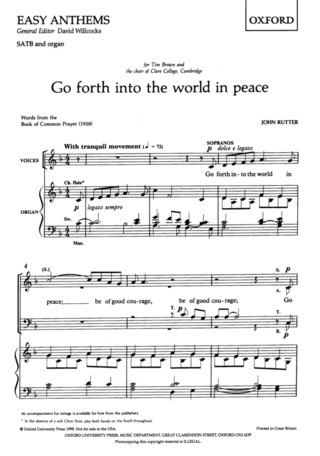 John Rutter: Go Forth into the World in Peace