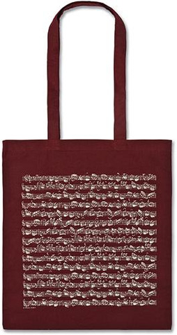 Tote Bag Sheet Music bordeaux