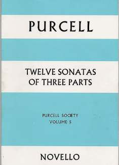 Henry Purcell: Purcell, H 12 Sonatas Of 3 Parts Pursoc 5 F/S