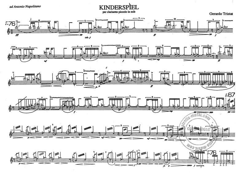 Tristano Gerardo: Kinderspiel Per Clarinetto Piccolo In Es (1)
