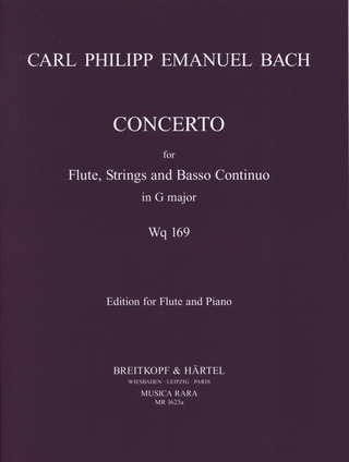 Carl Philipp Emanuel Bach: Flute Concerto in G major Wq 169