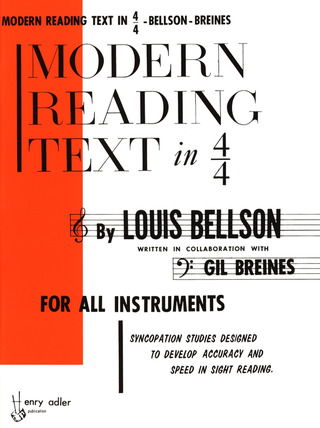Louie Bellson y otros.: Modern Reading Text in 4/4