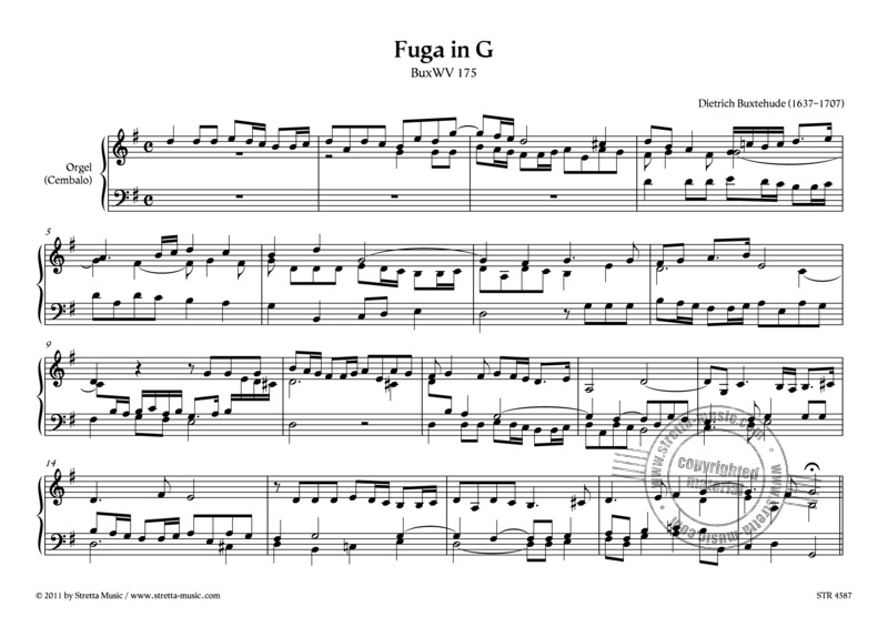 Dieterich Buxtehude: Fuga in G