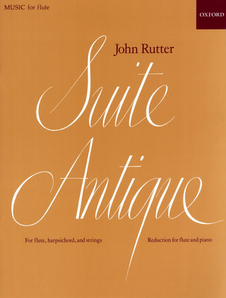 John Rutter: Suite Antique for flute, harpsichord and strings