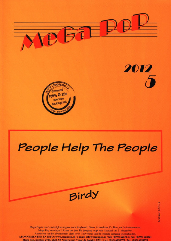 People help the People from Birdy | buy now in Stretta sheet