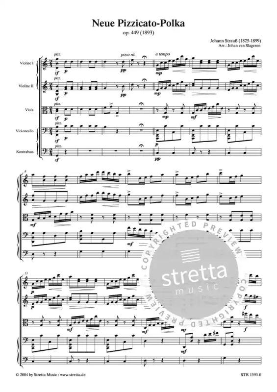 Neue Pizzicato Polka From Johann Strauß Sohn Buy Now In