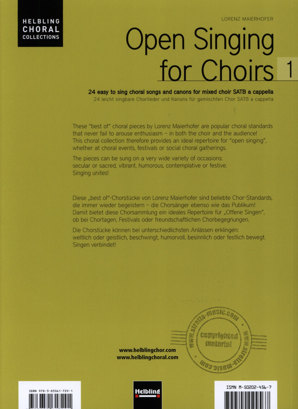 Lorenz Maierhofer: Open Singing for Choirs 1 – Chorleiterausgabe (8)