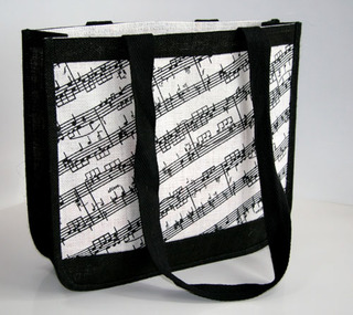 Tote Bag Music Lines