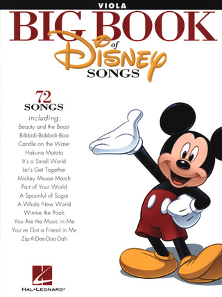 The Big Book Of Disney Songs - Viola