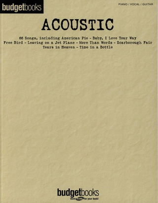 Budget Books - Acoustic
