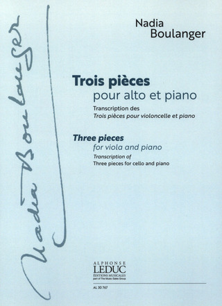Nadia Boulanger: Three Pieces
