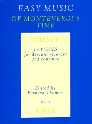 Easy Music of Monteverdi's Time