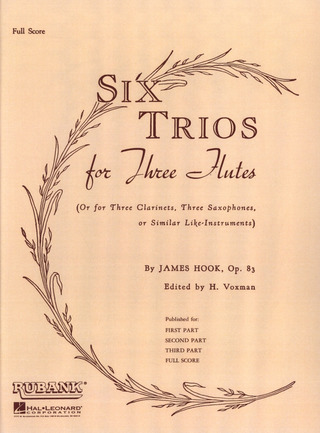 James Hook: Six Trios op. 83