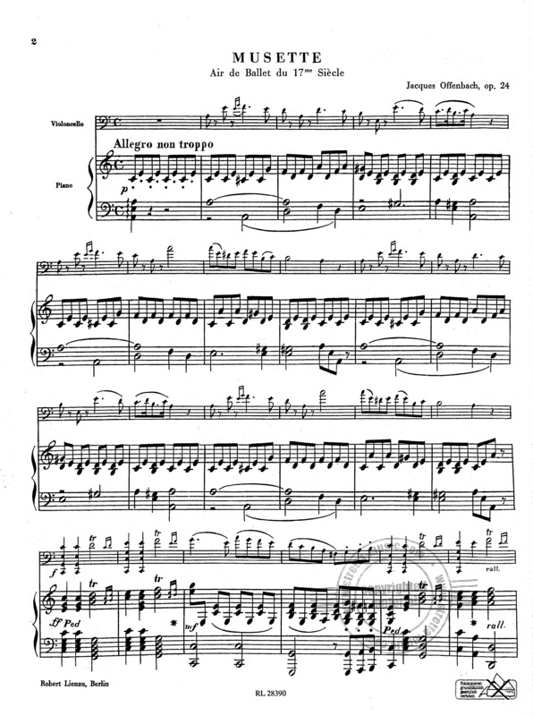 Jacques Offenbach: Musette op. 24 (1)