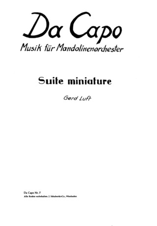 Gerd Luft: Suite Miniature