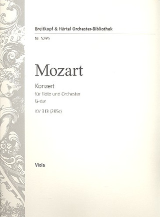 Wolfgang Amadeus Mozart: Flute Concerto No. 1 in G major K. 313