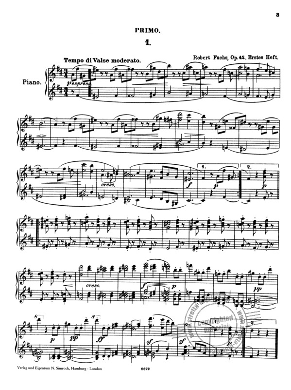 Wiener Walzer op. 42/1-10 von Robert Fuchs   im Stretta