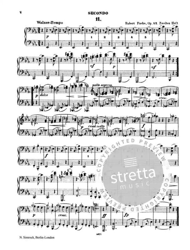 Wiener Walzer op. 42/11-20 von Robert Fuchs   im Stretta