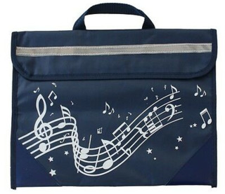 Wavy Stave Music Bag (Navy Blue)