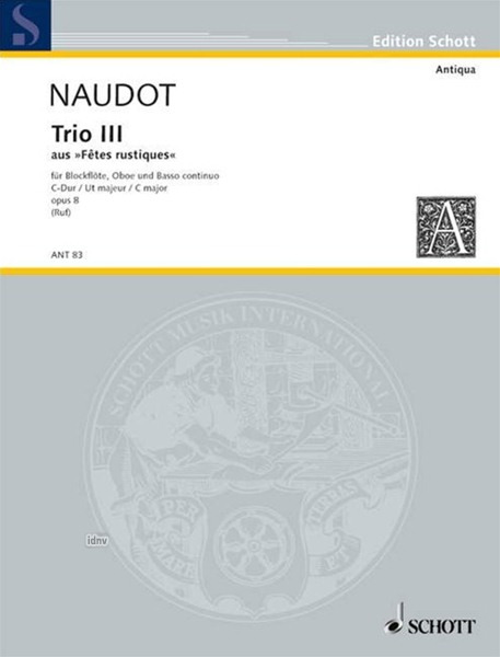 Jacques-Christophe Naudot: Trio III C-Dur op. 8