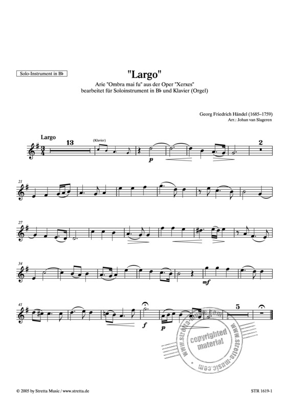 Georg Friedrich Haendel: Largo (1)