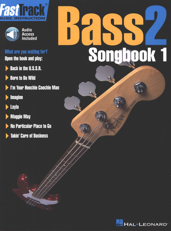 FastTrack Bass Method Book 2 Music Instruction Book and Audio NEW 000697294