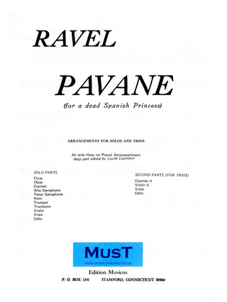 Maurice Ravel: Pavane (For A Dead Spanish Princess)