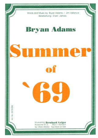 Bryan Adams: Summer Of 69