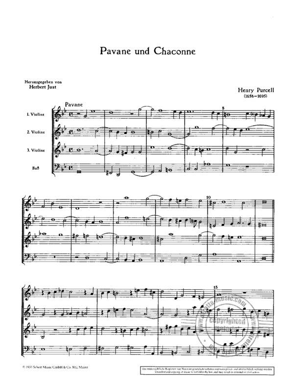 Henry Purcell: Pavane und Chaconne g-Moll (1)
