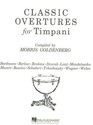 Goldenberg Morris: Classic Ouvertueres For Timpani