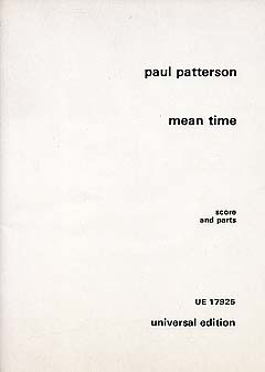 Paul Patterson: Mean Time für Bläserquintett (1985)