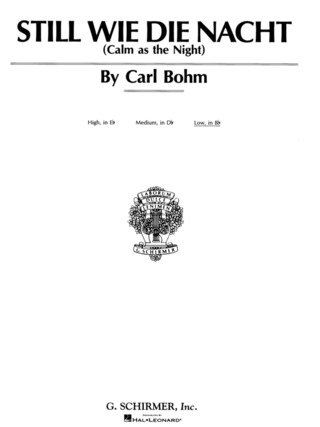 Carl Bohm: Calm as the Night