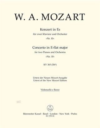 Wolfgang Amadeus Mozart: Concerto for two Pianos and Orchestra no. 10 in E-flat major K. 365 (316a)