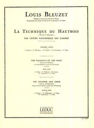 Louis Bleuzet: The Technics of the Oboe 1