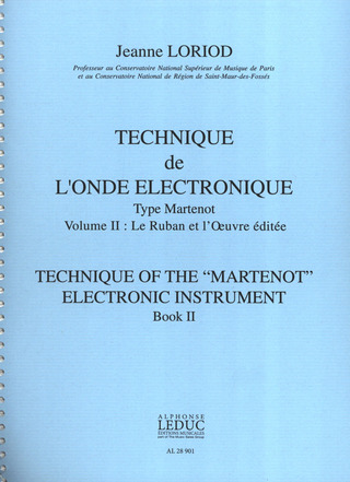 "Jeanne Loriod: Technique of the ""Martenot"" electronic instrument 2"