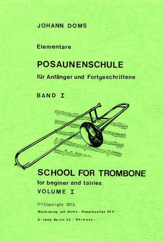 Johann Doms: School for trombone 1