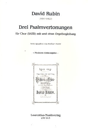 David Rubin: 3 Psalmvertonungen