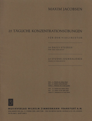 Maxim Jacobsen: 25 Daily Studies