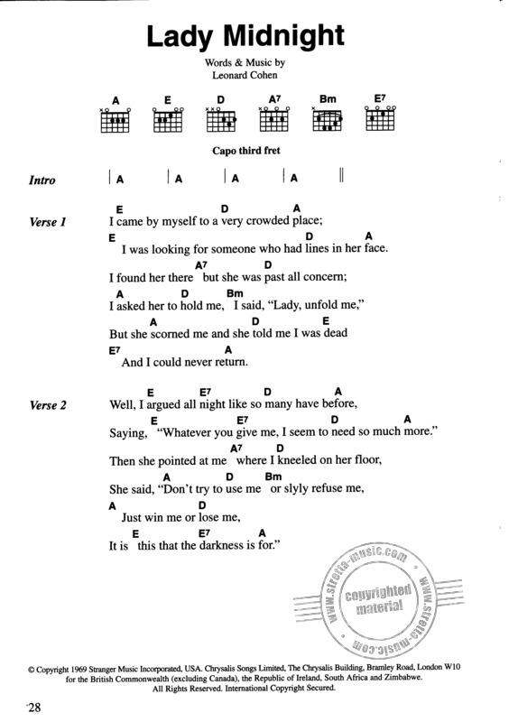 The Chord Songbook – Leonard Cohen (2)