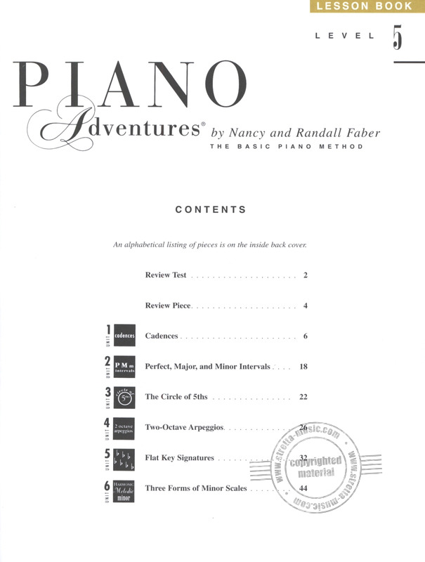 Randall Faber et al.: Piano Adventures 5 – Lesson (1)